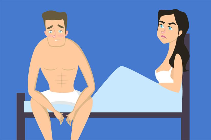 erecția cauzează agravarea